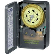 Intermatic T2006 NEMA 1 - Compact, 7 Day Time Switch, 208-277V, SPDT, 2 Hour Minimum ON/OFF Times