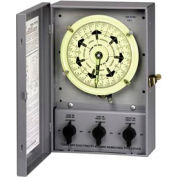 Intermatic T51311BC NEMA 1-Timing Control Center, 7 Day Dial w/Carryover,120V,(3)SPDT Three Circuit