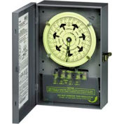 Intermatic T7801B NEMA1-7 Day Time Switch DPDT Separate Clock Motor And Circuit Terminals, 125V