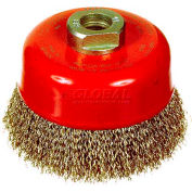 "ITM 5"" Crimped Cup Carbon Steel Wire Brush"