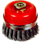 "ITM 4"" Knotted Cup Carbon Steel Wire Brush"