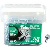 """ITW Teks Drill Point Screw - #10-16 x 3/4"""" - Hex Head - Pkg of 450 - 21322"""