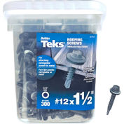 "ITW Teks Roofing Screw - #12 x 1-1/2"" - Hex Head - Pkg of 300 - 21422"