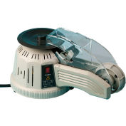"Tach-It Z-Cut 2 Electric Tape Dispenser With Rotating Carousel For Up To 1""W x 5"" Roll Diameter"