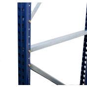 "Interlake Mecalux Pallet Rack Tear Drop Upright Frame, Bolted, 96""H x 48""D, 24,571 Lbs. Cap., Blue"