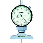 INSIZE Dial Depth Caliper, 2341-E1, 0-1.2 Range