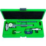 InSize 3 Piece Measuring Tool Set-Dial Caliper, Micrometer & Steel Rule, 5003-1