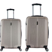 "InUSA San Francisco Lightweight Hardside Spinner 2-Piece Luggage Set 22""/26"" - Champagne"
