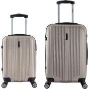 "InUSA San Francisco Lightweight Hardside Spinner 2-Piece Luggage Set 18""/26"" - Champagne"