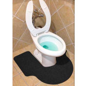 Wizkid Antimicrobial Big A Toilet Mats, Black 6 Mats/Box - BIG A-BL  Box