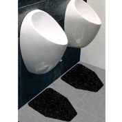 Wizkid Antimicrobial Original Urinal Mats, Black 12/Pack - OR-10001-BL Box