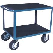 "Vinyl Matted Standard Handle Cart w/ 8"" Pneumatic Casters - 24 x 48"