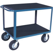 "Vinyl Matted Standard Handle Cart w/ 5"" Poly Casters - 24 x 48"