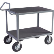 "Vinyl Matted Ergo Handle Cart w/ 8"" Semi-Pneumatic Casters - 18 x 30"
