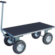 """Vinyl Matted Pull Wagon w/ 16"""" Pneumatic Casters - 30 x 60"""