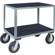 "Vinyl Matted No Handle Cart w/ 8"" Pneumatic Casters - 24 x 60"