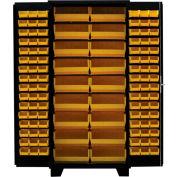 Jamco Bin Cabinet DP236-BL - 14 ga. All Welded, Flush Doors w/114 Bins, 36 x 24 x 78 Black