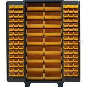 Jamco Bin Cabinet DP248-GP - 14 ga. Flush Doors w/155 Bins, 48 x 24 x 78, Gray