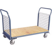 Jamco Wire Sided Platform Truck with 2 Wire Ends EP248 24 x 48 1200 Lb. Capacity