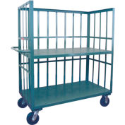 Jamco 3 Sided Slat Truck HB460 with 2 Shelves 36 x 60