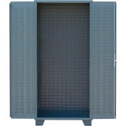"Jamco Bin Cabinet HF260-GP - Louvered Doors & Interior, No Bins & Shelf Rail, 60""Wx24""Dx78""H,Gray"