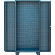 "Jamco Bin Cabinet HJ248-GP - 4"" Deep Louvered Doors & Interior w/Shelf Rails, No Bins, 48x24x78 Gray"