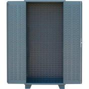 "Jamco Bin & Shelf Cabinet HL248-GP - Louvered Interior w/Shelf Rails, No Bins, 48"" x 24"" x 78"", Gray"