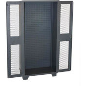 Jamco Bin Cabinet HM236-GP - Louvered Interior w/Shelf Rails, Clearview Door, No Bins, 36x24x78 Gray