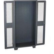 Jamco Bin Cabinet HM236-GP - Louvered Interior w/Shelf Rails, Clearview Door, No Bins, 36x24x78 Gray