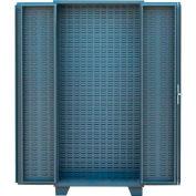 "Jamco Bin Cabinet HO260-GP - 4"" Deep Doors, Louvered Doors & Interior, No Bins, 60"" x 24"" x 78"" Gray"