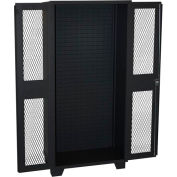 Jamco Bin & Shelf Cabinet HX248-BL - Louvered Interior, Clearview Door, No Bins, 48 x 24 x 78, Black