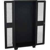 Jamco Bin & Shelf Cabinet HX248-BL - Louvered Interior, Clearview Door, No Bins, 48 x 24 x 78, Black