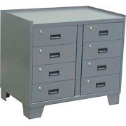 "Jamco Heavy Duty Security Cabinet JL236 - 8 Drawer, 36""W x 24""D x 33""H"