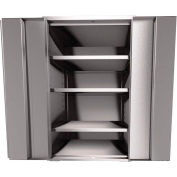"Jamco Stainless Steel Cabinet KF136 - Assembled 36""W x 18""D x 61""H"