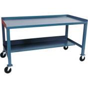 Mobile  Steel Workbench - 30 x 72