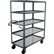 Ergonomic Handled 5 Shelf Stock Truck NE372 30 x 72
