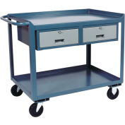 Two Drawer Mobile Service Bench - 30 x 36
