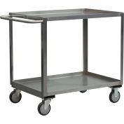 """Jamco Stainless Steel Cart XB348 S5 - 2 Shelf 54""""L x 31""""W, 5"""" Casters Stainless Rigs"""