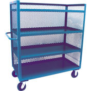 Jamco 3 Sided Mesh Truck ZD472 36 x 72 with 4 Shelves