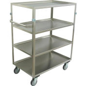 "Jamco Stainless Steel Truck ZX248 4 Shelf 48x22x48 5"" Casters Steel Rigs"