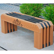Jayhawk Recycled Plastic 4 Ft. Gateway Bench, Cedar