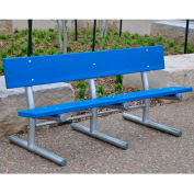 Jayhawk Recycled Plastic 6 Ft. Madison Bench, Surface Mount, Cedar Bench/Galvanized Frame