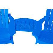 Jayhawk Plastics Basic Adirondack Tete-A-Tete, Blue