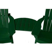 Jayhawk Plastics Basic Adirondack Tete-A-Tete, Green