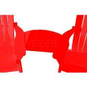 Jayhawk Plastics Basic Adirondack Tete-A-Tete, Red
