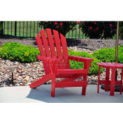 Jayhawk Plastics Cape Cod Adirondack Chair, Red