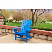 Jayhawk Plastics Seaside Adirondack Chair, Blue