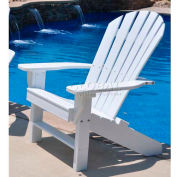 Jayhawk Plastics Seaside Adirondack Chair, White