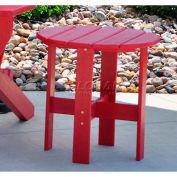 Jayhawk Plastics Traditional Adirondack Side Table, Red
