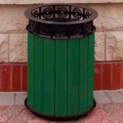 Jamestown Receptacle, Recycled Plastic, 20 Gal., Green